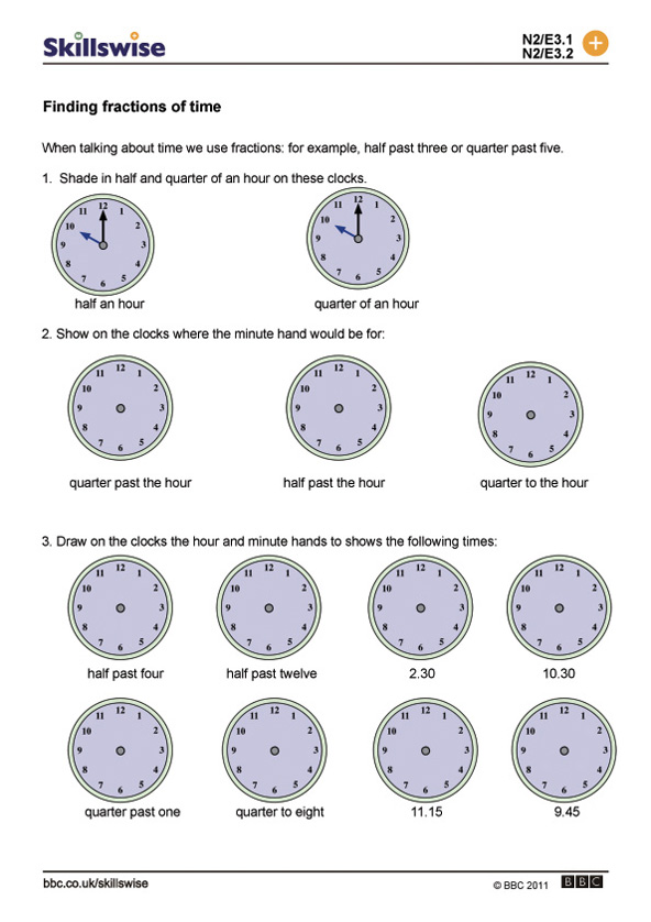 math worksheet : finding fractions of time : Types Of Fractions Worksheet