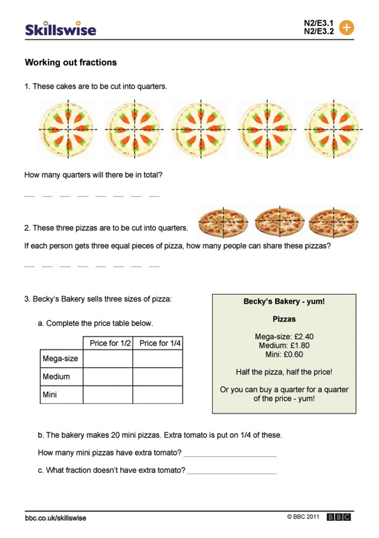 worksheet Working With Fractions Worksheet ma17frac e3 w working out fractions 752x1065 jpg fractions
