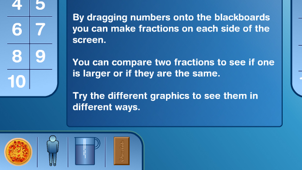Click to play 'Simplifying fractions game'