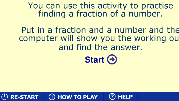 Click to play 'Unit fractions methods game'