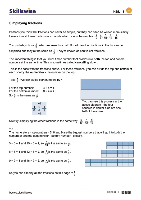 Fractions Worksheet in addition Simplifying Fractions Worksheet ...