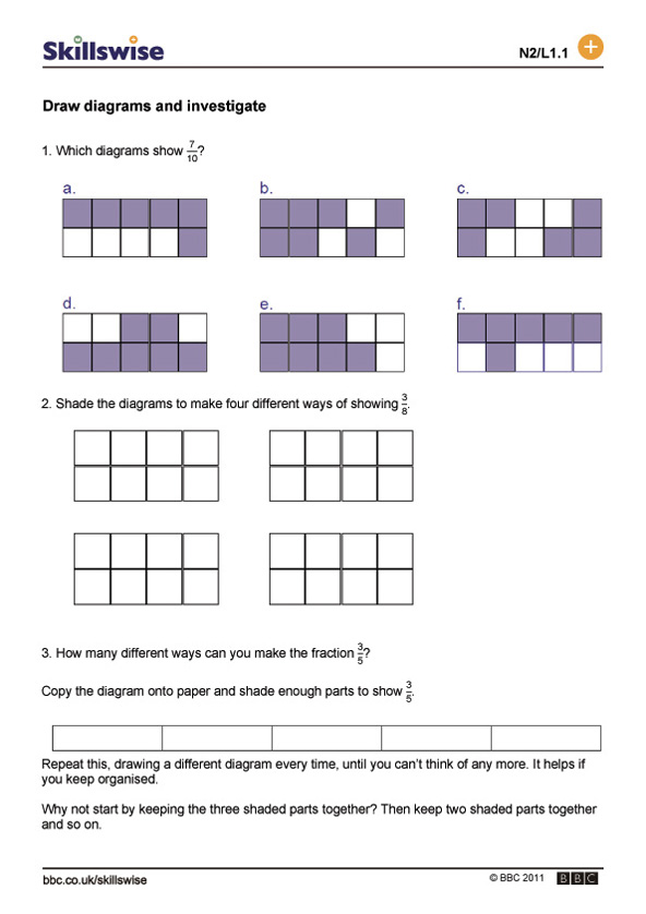 Shading Fractions Worksheet – Shaded Fractions Worksheet