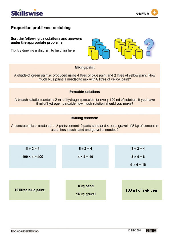 Ratio and proportion worksheet preview