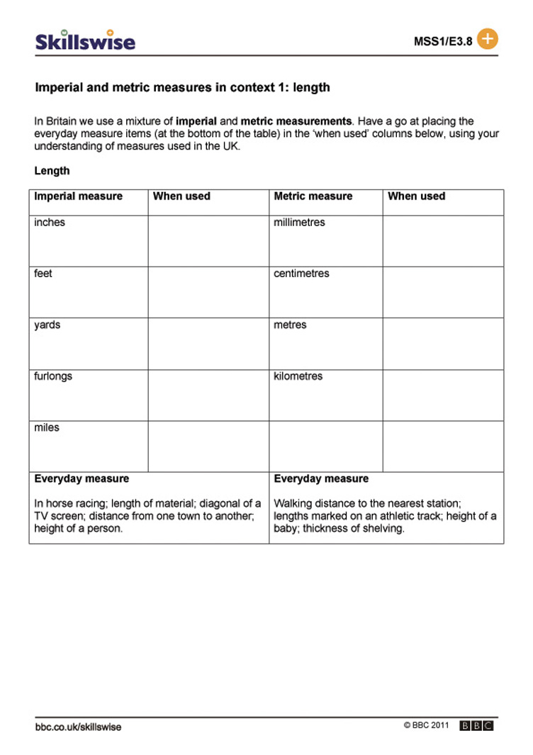 Uncategorized Metrics And Measurement Worksheet imperial and metric measures in context 1 length