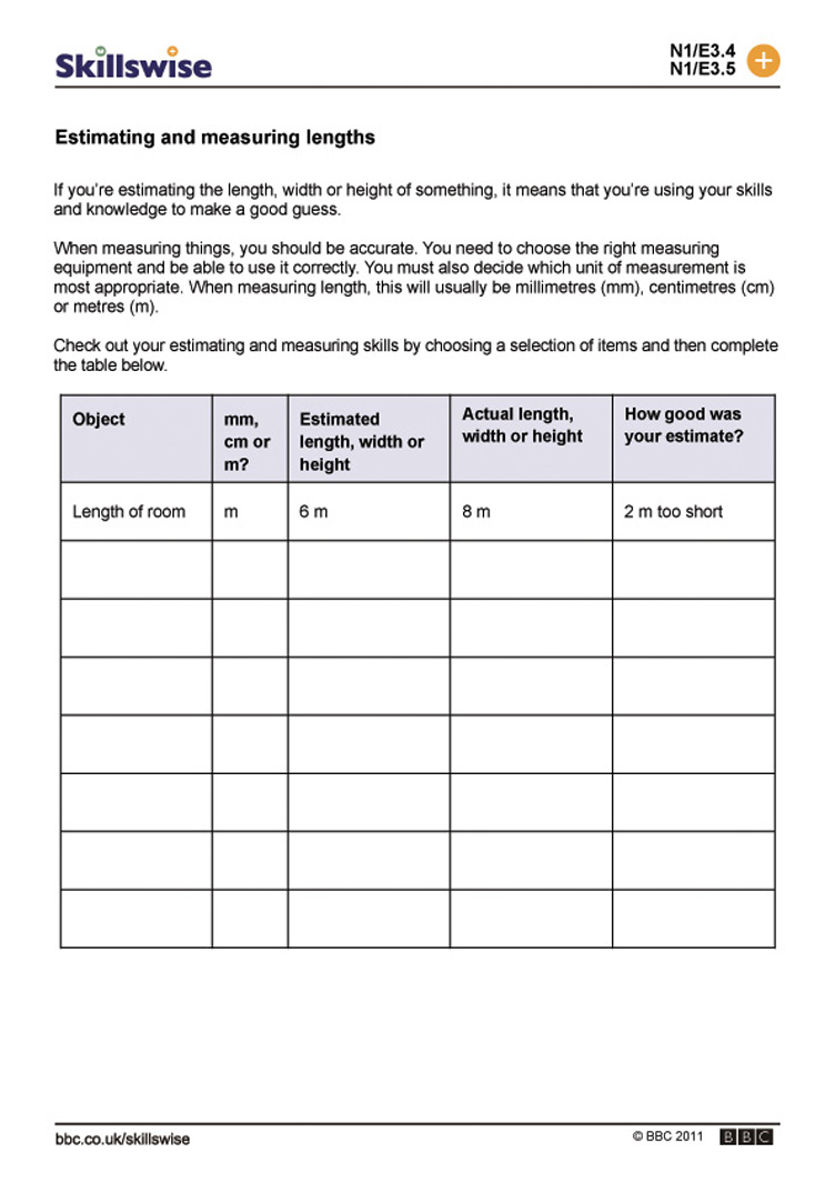 Worksheet Measuring Lengths Worksheet estimating and measuring lengths length distance lengths