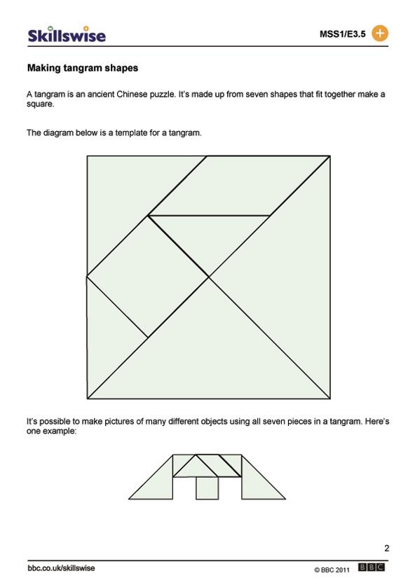 Easy Tangrams Puzzle #1 | Worksheet | Education.com