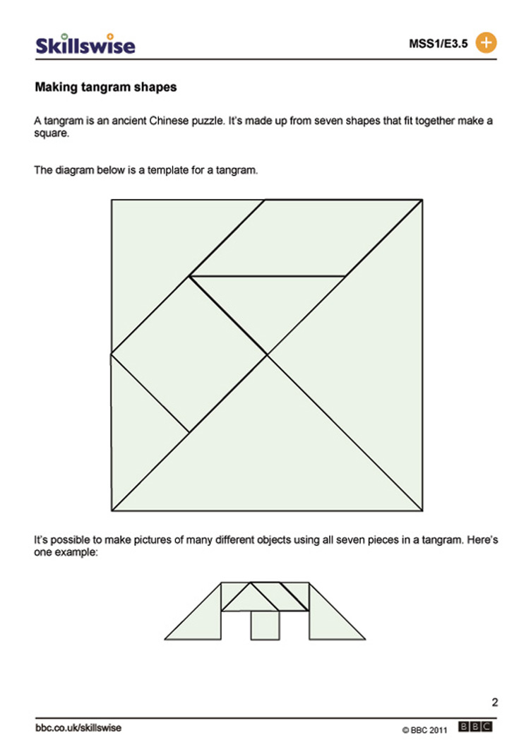 Tangrams Printable Kindergarten Of all tangram puzzles.