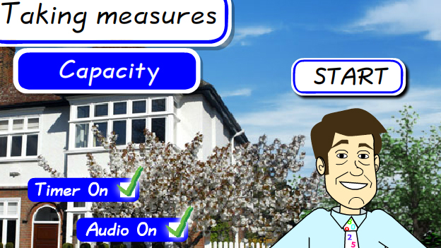 Click to play 'Taking measures capacity game'