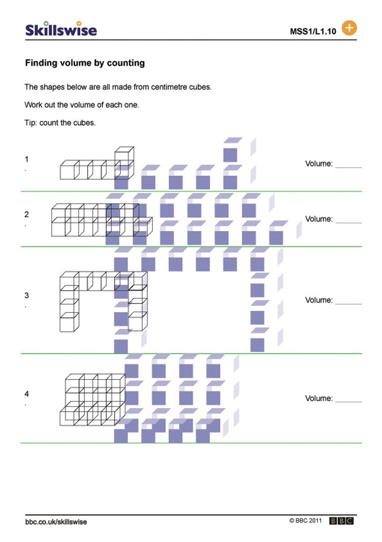 Worksheets Volume Counting Cubes Worksheet finding volume by counting