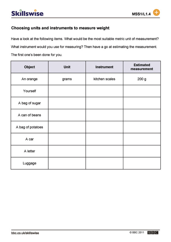 ma24weigl1wchoosingunitsandinstruments592x838jpg – Mass and Weight Worksheet
