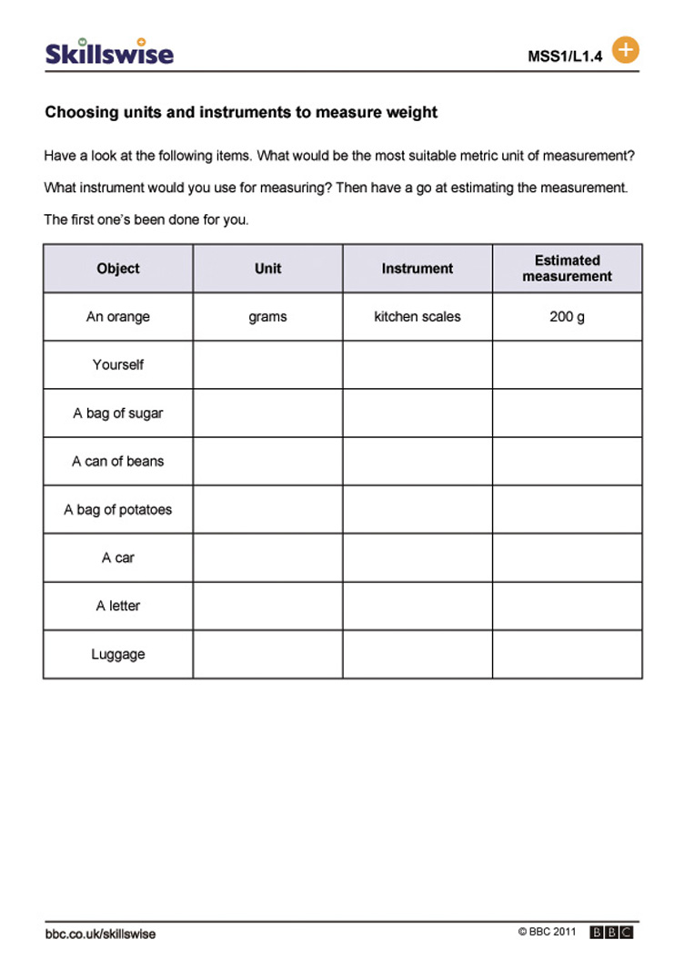 Worksheets Measuring Units Worksheet choosing units and instruments to measure weight worksheet preview