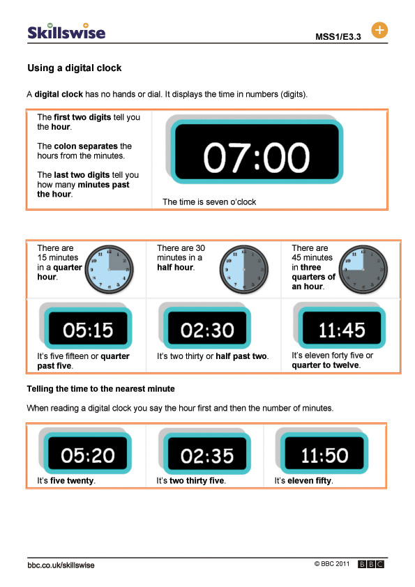what time is it worksheet digital