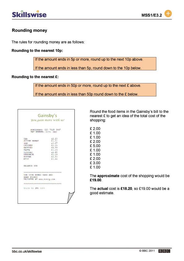 ma26monee3froundingmoney560x792jpg – Rounding Money Worksheets