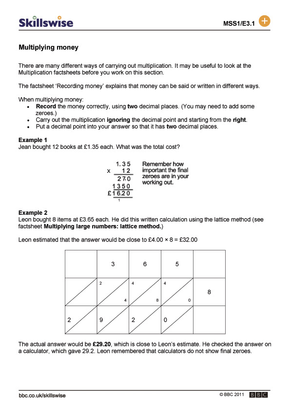 ma26monel1fmultiplyingmoney560x792jpg – Multiplying Money Worksheets