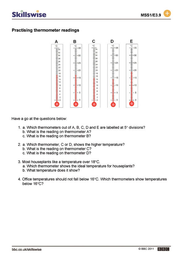 ma27tempe3wreadingthermometers592x838jpg – Measuring Temperature Worksheets