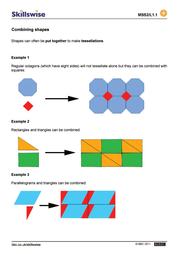 ma292dshl1fcombiningshapes560x792jpg – Tessellations Worksheet