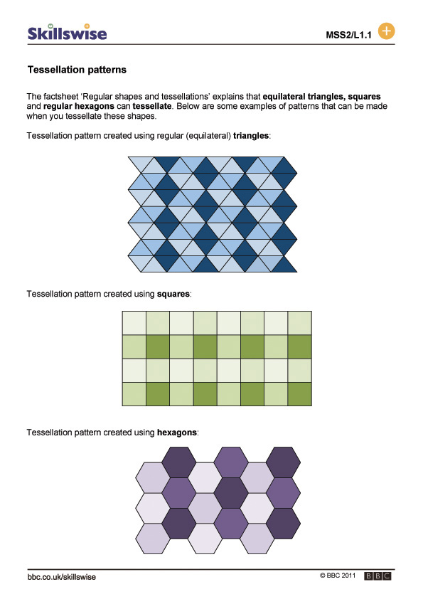 Worksheet Tessellations Worksheet tessellation patterns