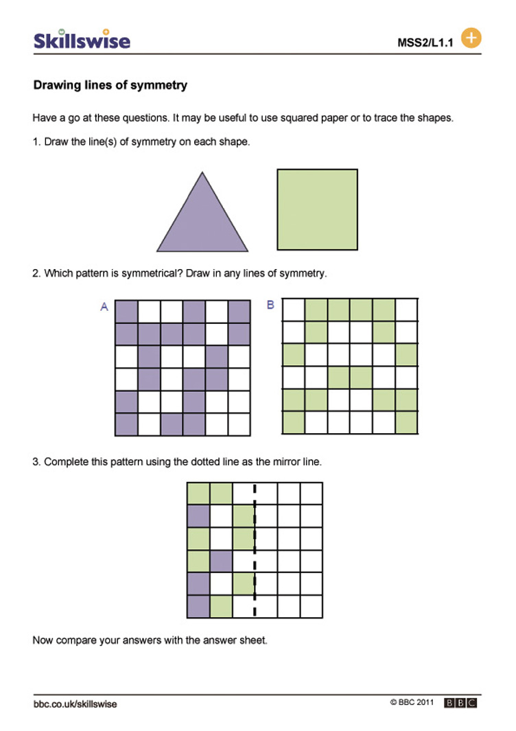 Worksheets Tessellations Worksheet drawing lines of symmetry 2 d shapes worksheet preview