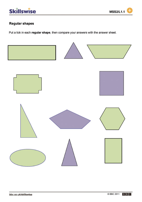 shapes worksheet preview