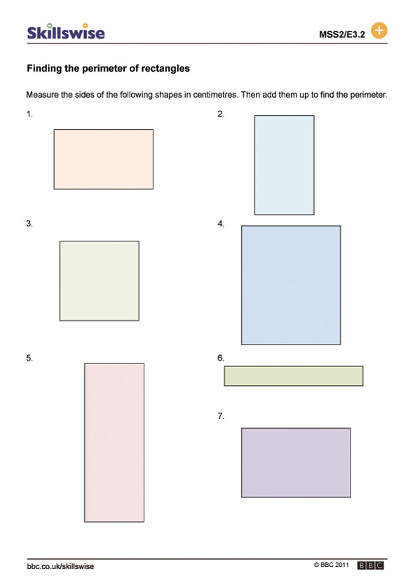Finding the perimeter of rectangles – Math Perimeter Worksheets
