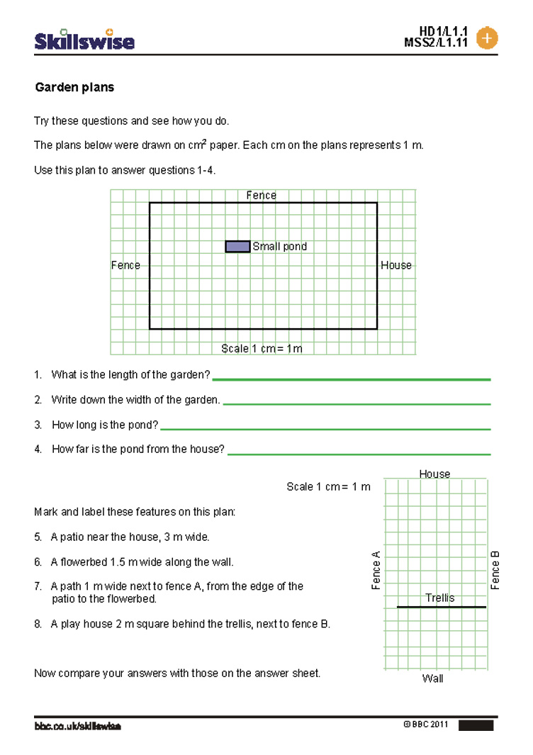 Maths Scale Drawing Worksheets Math Problems 7th Grade Drawings ...