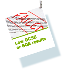 Low GCSE or SQA Results