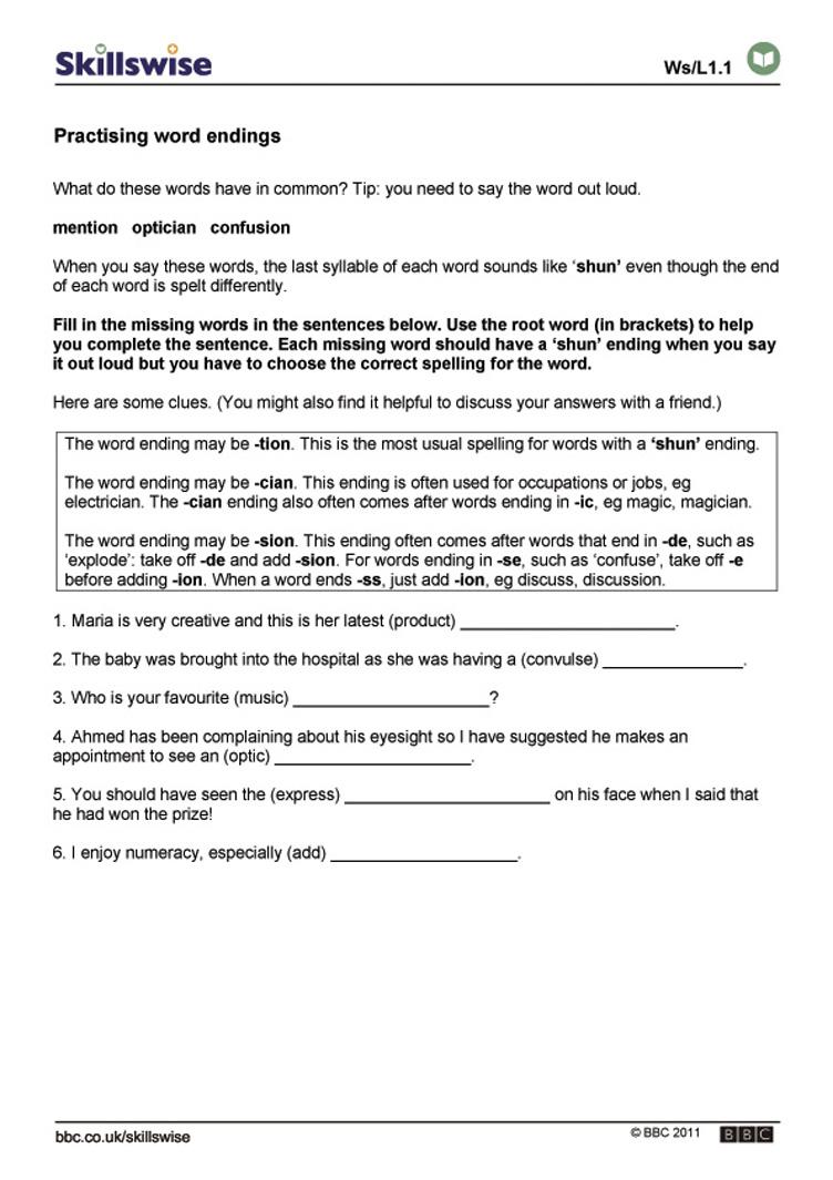 Workbooks tion worksheets printable : Worksheets. Words Ending In Tion Worksheet. Opossumsoft Worksheets ...