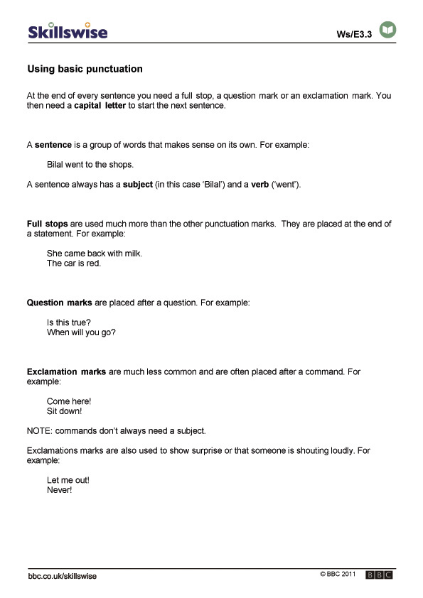 Printable Worksheets punctuation rules worksheets : en29punc-e3-f-basic-punctuation-560x792.jpg