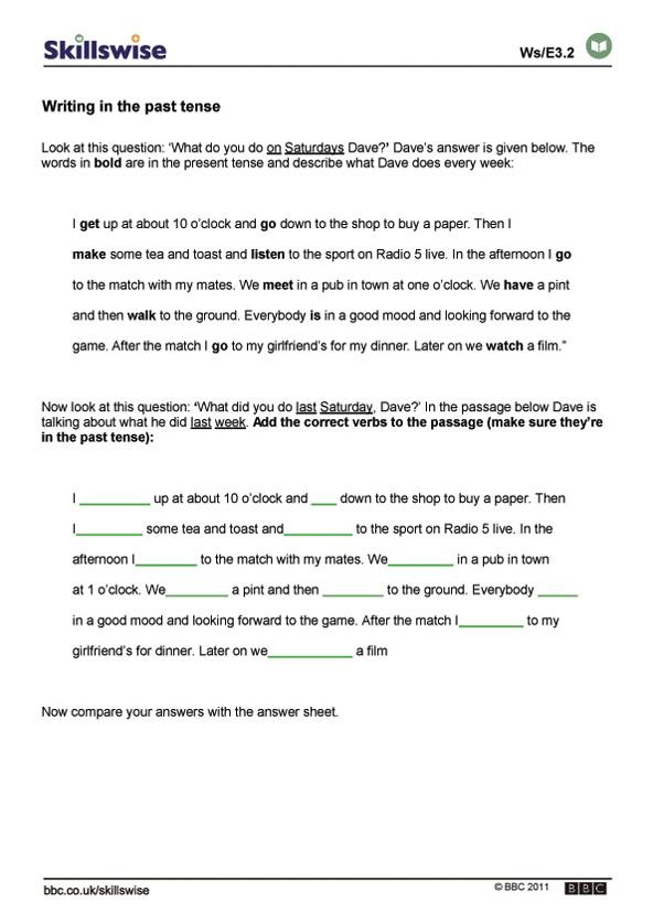 Printable Worksheets past tense worksheets ks2 en32tens-e3-w-writing-in-the-past-tense-592x838.jpg