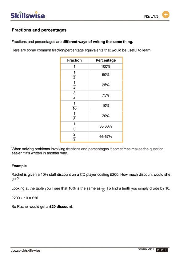 Printable Worksheets ratio proportion and percent worksheets : decimals and percentages